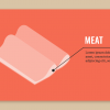 isometric lunch meat vector asset