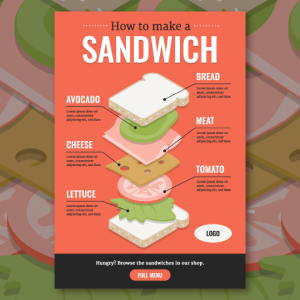Isometric food infographic
