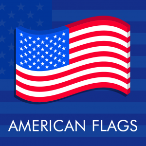 American flag vector icons