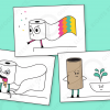 Toilet paper roll characters vector downloads