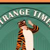 Tiger toilet paper vector poster