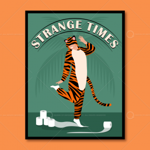 Tiger toilet paper poster