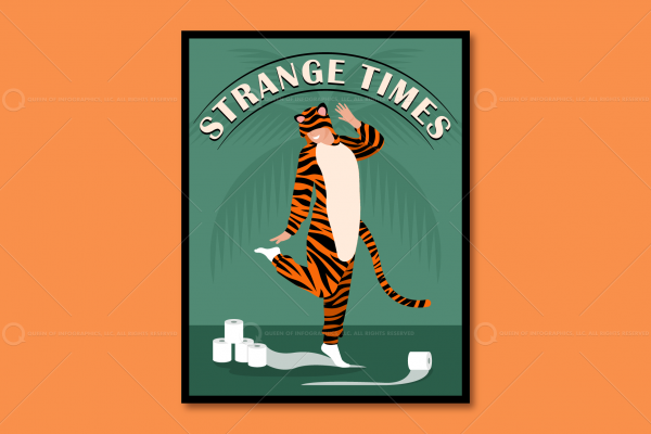 Tiger toilet paper poster