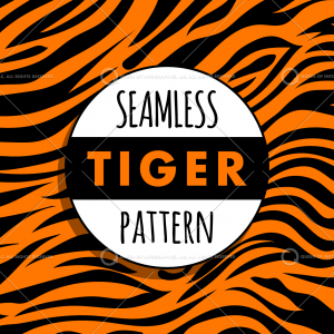 Seamless tiger stripes swatch