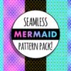 Seamless mermaid pattern pack