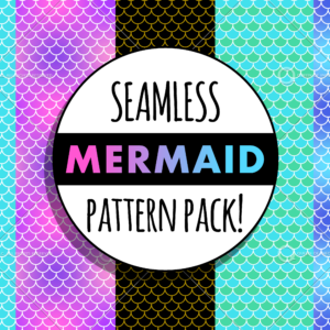 Seamless mermaid pattern pack